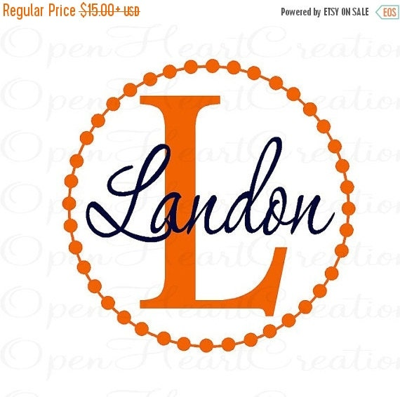 ON SALE Teen Name Wall Decal - Initial and Name Vinyl Wall Decal for Girl or Boy Baby Nursery Bedroom Teen FN0254