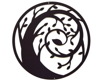 Spiral Tree Metal Wall Art - Free USA Shipping