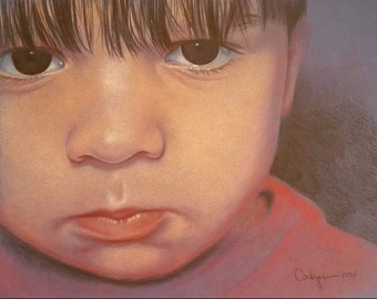 Portraits with Personality - Children's Custom 8x10 Portrait Painting done from your own photo