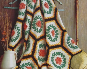 Prize Afghans Knit and Crochet Patterns for Afghans Vintage Patterns Home Decor Needlecraft Worsted Weight Yarn