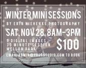 Winter Block Mini Session Digital Photoshop Template