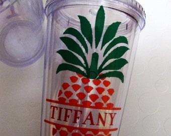 Hawaiian Pineapple Insulated Tumbler