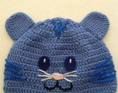Daniel the Tiger's buddy Tigey - inspired Crochet Knit Hat   - Photo shoot props - Preschoolers cap - Light Summer hat