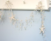 Beach Decor Starfish Garland, Nautical Decor Pearl Garland, Beach Wedding Garland, Coastal Decor, Beach Themed Decor - PEARL-  5FT - #BSFGP
