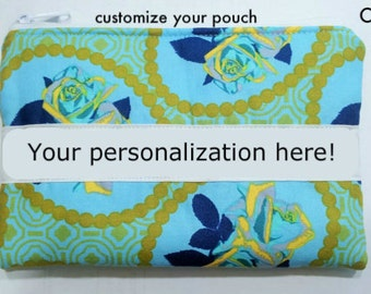 Personalized Gift, Custom Pouch, Personalized zippered bag, Personalized pouch, Makeup pouch, makeup bag, gift idea, gift for mom,