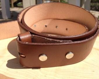Tan Leather Belt Strap