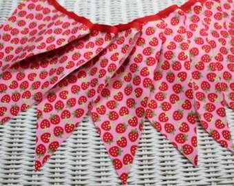 Free Shipping USA /Strawberry Fabric Banner/Pink Strawberry Fabric Banner/Photo Prop/Garland/Bunting/Birthday Banner/Wedding Banner