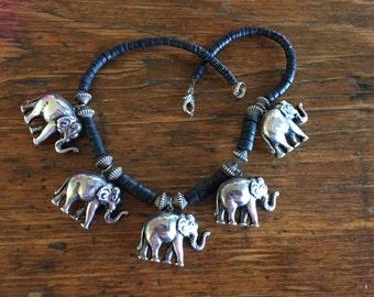 Vintage Tribal Elephant Necklace