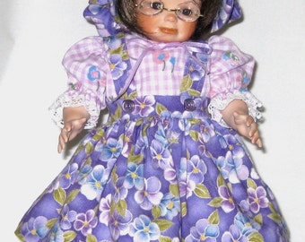 Handcrafted collectible  full porcelain doll 12 inches tall Mandy