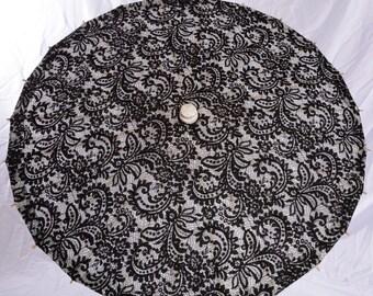 Black lace filagree parasol