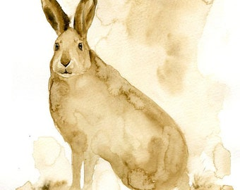 JACKRABBIT Original painting 8x10inch(Vertical orientation)