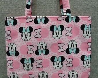 Minnie Mouse Tote Bag/Book Bag/Preschool Tote/Project Bag