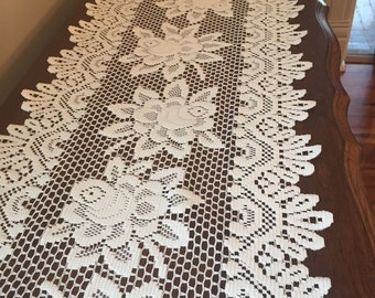 Dresser Runner - Crocheted