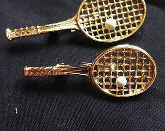 Vintage 1980s Tennis Racket Novelty Pins by Cerrys