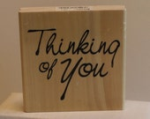 Large Thinking of You Rubber Stamp