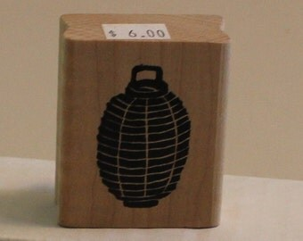 Hanging Chinese Lantern Rubber Stamp