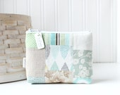 Patchwork Pastels Coin Purse Gift Card Credit Card Holder Floral Zipper Pouch Polka Dot Change Purse