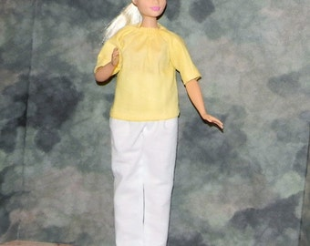 CB1-04) the NEW Curvy Barbie doll clothes, 1 pants and 1 blouse