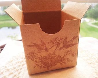 Bird Nest Family Kraft Boxes Wedding, Baby Shower, New Baby Set of 6