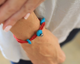 Red string of fate, Red string bracelet, good energies, turquoise jewelry, evil eye jewelry, kabbalah red string bracelet, good luck
