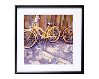 Bicycle Art Bicycle Prints | Bicycle art Illustration Watercolor Bicycle wall art Watorcolour bike aquarelle | Laberge Muren Studio