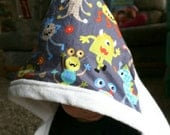 Bamboo Hooded Toddler Towel: Adorable Monsters