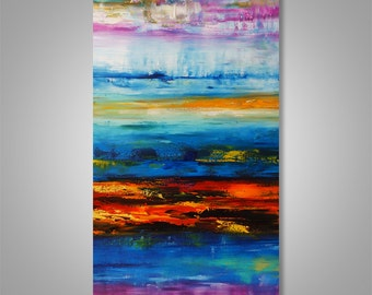 Abstract Painting, Abstract Seascape, Abstract Wall Art, Original Painting, Wall Decor, Wall Art, Home Decor, Catalin Art, Modern Abstract