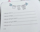 Baby Shower Games - Baby Wish Cards - Baby Shower Advice Cards - Baby Clothesline Cards - Gender Neutral Baby Wish Cards -  BCLWC