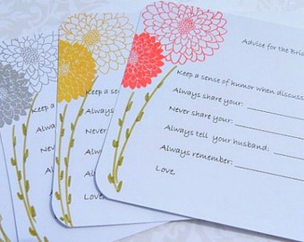 Bridal Shower Advice Cards -  Wedding Shower Advice Tags - Advice Cards for Brides To Be - Marriage Advice Cards - SFAC