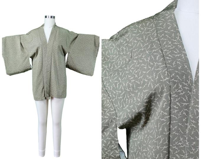 Vintage Japanese Kimono / Authentic Vintage Kimono / Festival Short Kimono / Silk Spring Summer Kimono / Festival Floral Print Kimono