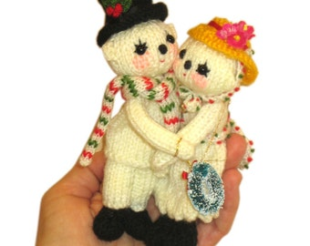 NOEL Couple Finger Puppets Pdf Email Knit PATTERN