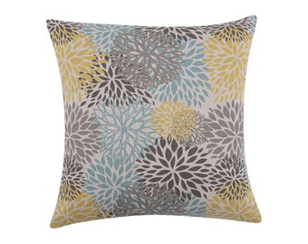 YELLOW Pillow Cover.Decorator Pillow Cover.Home Decor.Large Print. BLOOMS COLLINS.Cushions. Cushion.Pillow. Premier Prints