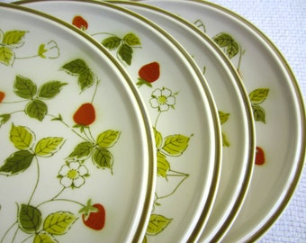 Vintage Mikasa Strawberry Hill Dinner Plates set of 4