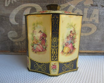 Vintage Romantic Victorian Tin Cottage Chic Decor