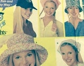 "Hats Scarf Scarves headwear EASY Simplicity 5940 adult misses sizes small med large 21"" to 23"" uncut sewing pattern"