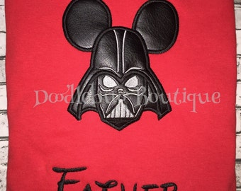 Mickey Mouse Darth Vader shirt with FREE name