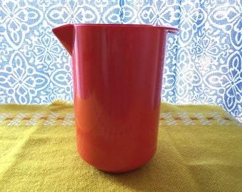 Vintage Rosti Orange Milk Pitcher
