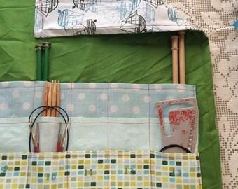 Knitting Needle Case, Needle Holder, Knitting Supplies, The Aqua One