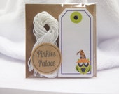 Small Halloween Owl Gift Tags Treat Bag Tags Birthday Tags Favor Tags Set of 12 - T549