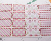 16 Half Boxes Christmas December Stickers Holiday Planners rts PS202 Fits Erin Condren Planners
