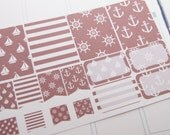 16 Planner Stickers Scrapbook Stickers Plum Paper Nautical Stickers eclp PS208 Fits Erin Condren Planners