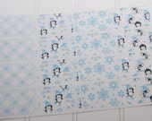 Winter Half Boxes Planner Stickers Penguins Snowmen Snowflakes PS159d Fits Erin Condren Planners