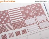 ON SALE 16 Planner Stickers Scrapbook Stickers Plum Paper Nautical Stickers PS208
