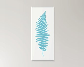 SALE! Fern illustration graphic modern botanical drawing print in various colours