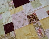 Quilt Top : Soft and Creamy Handmade/Unfinished