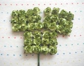 Olive Green Paper Millinery Flowers (36)