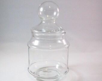 Vintage Apothecary or Terrarium Jar, Bubble Lid