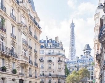 Paris Photography -  Under Paris Skies, Eiffel Tower, Paris Art Print, Travel Fine Art Photograph, French Home Decor, Large Wall Art