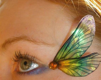 Fairy Wing Eye Decorations Dragonfly rainbow wings pair