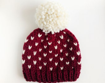 Red Fair Isle Hat